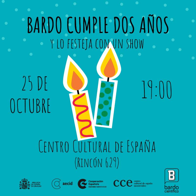 aniversario bardo científico Uruguay Cumpleaños