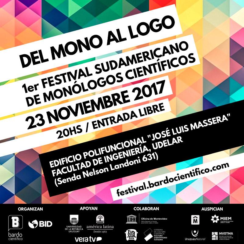 Afiche festival monólogos científicos bardo uruguay