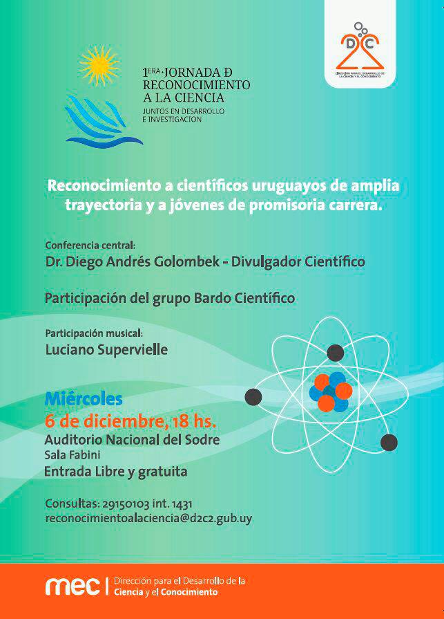 Bardo Científico Reconocimiento Ciencia Uruguay Sodre adela Reta